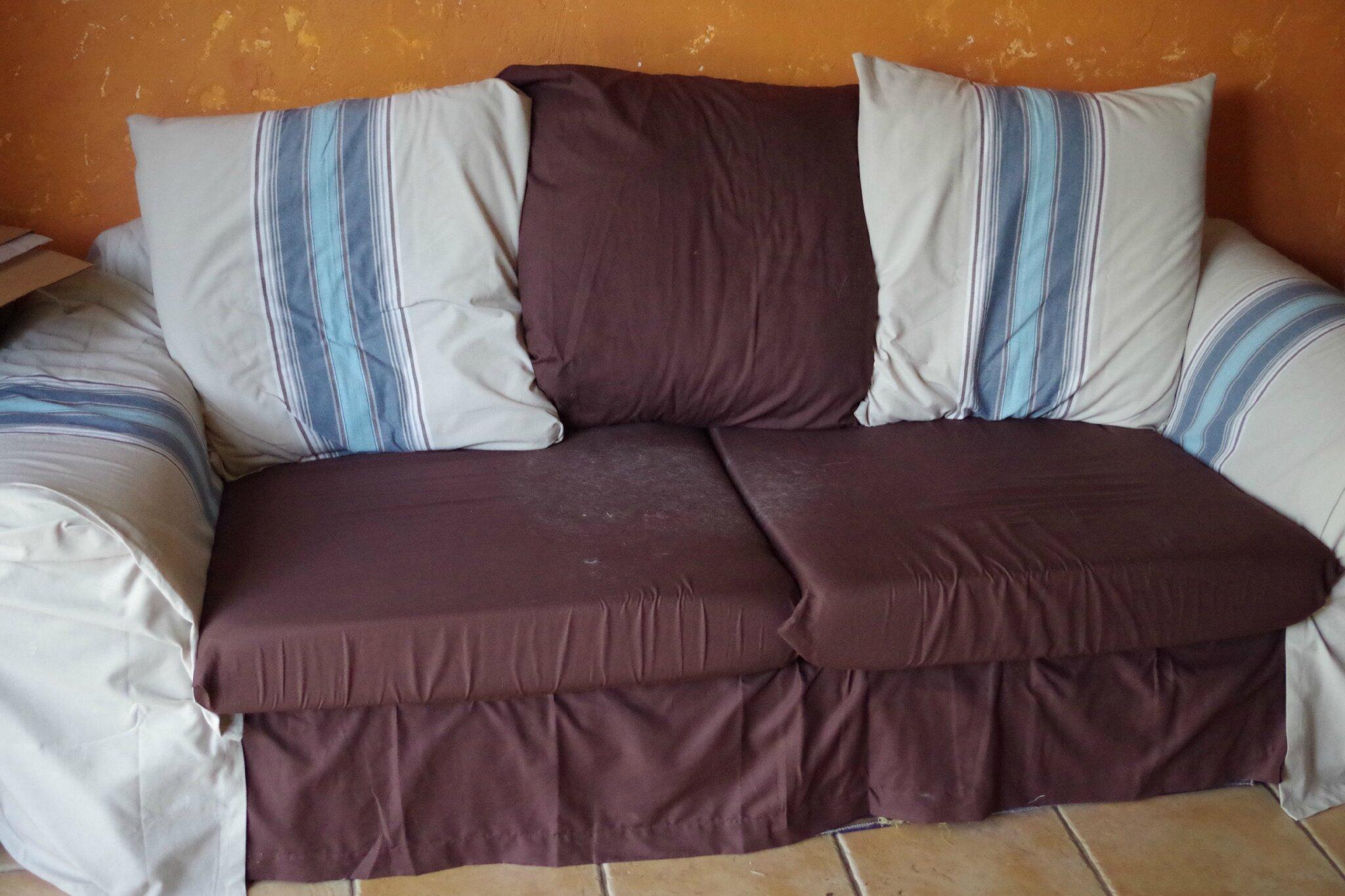 Housse de canap kouchka cr e - Housse de coussin de canape ...