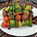 Brochettes de légumes et chorizo wheaty