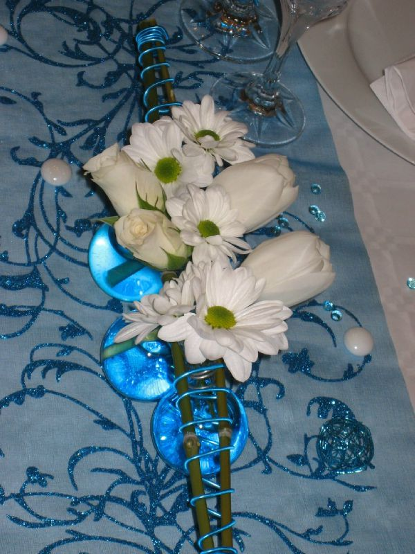Turquoise et blanc