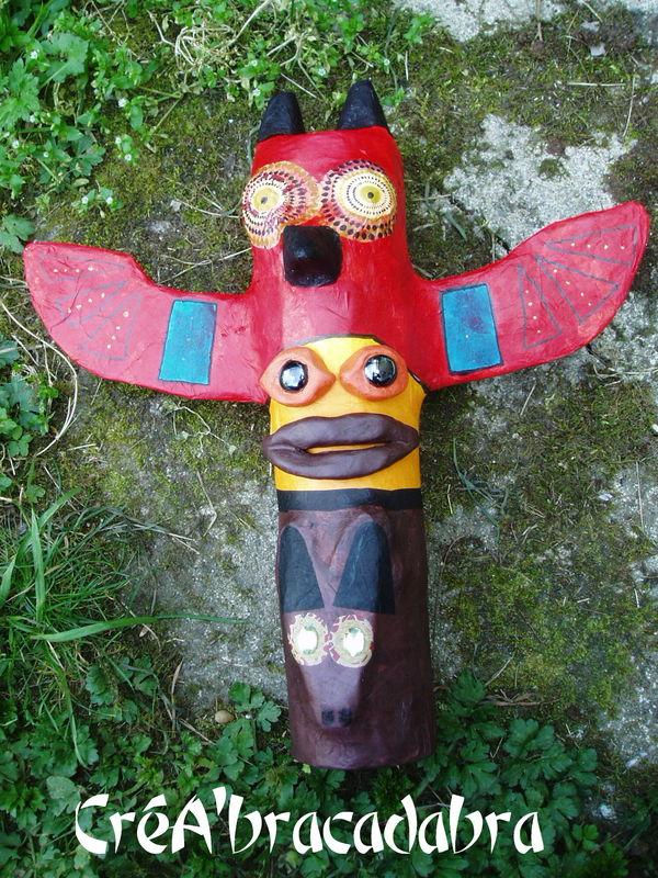 Bien-aimé Un totem amérindien multicolore et multiprotecteur !!! - CréA  QF74
