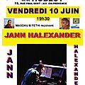 Concert jann halexander à la cave aux artistes à aix-en-provence le 10 juin