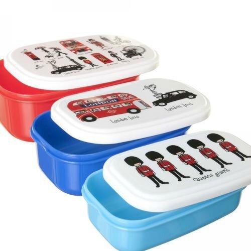 Lot de 3 boites à déjeuner pour enfants Londres sans BPA Tyrrell Katz