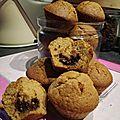 Muffins à la courge (sucrine du berry), épices et coeur chocolat