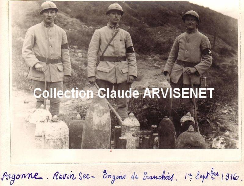 ARGONNE - Les engins de tranchées - 1916