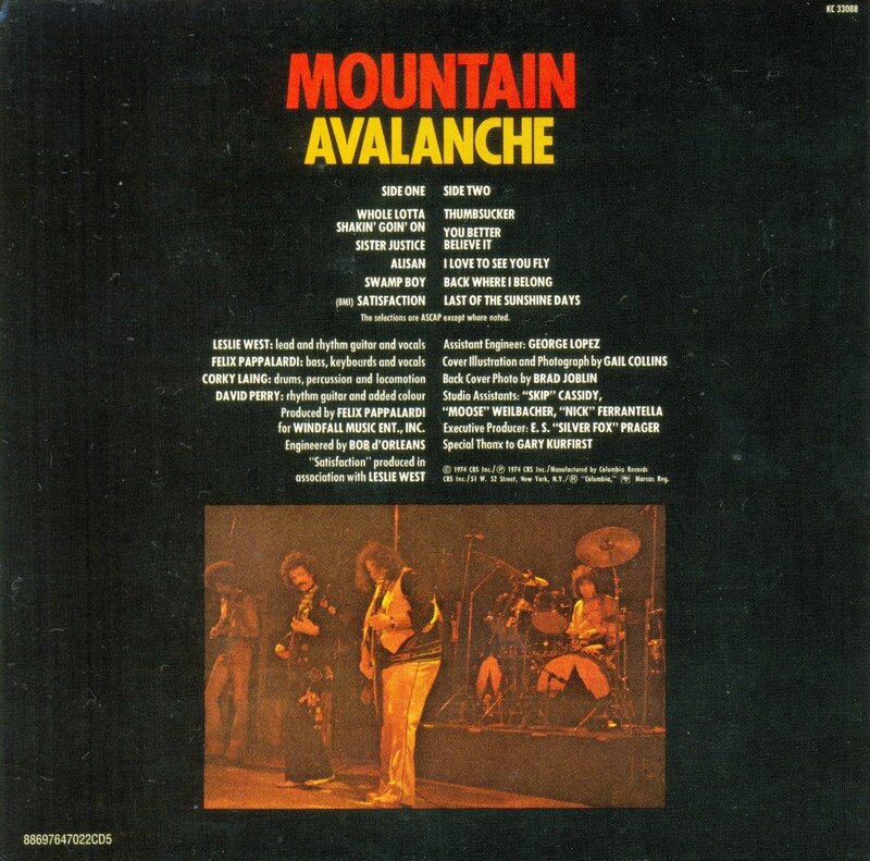 Mountain - Original Album Classics (CD 5 Avalanche) - Back