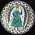 Dish, turkey, iznik, ottoman period, first half of 17th century