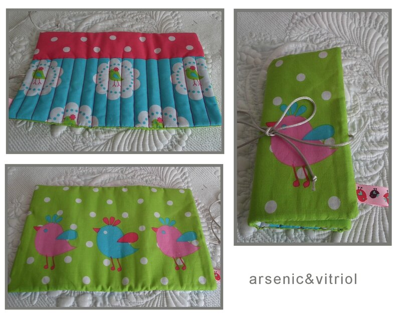 trousse crayons fille