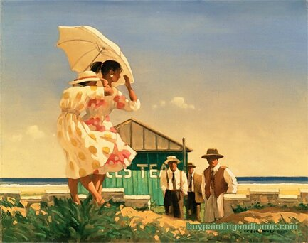 Jack Vettriano A Very Dangerous Beach