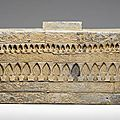 A large impressed grey pottery tomb brick, eastern han dynasty (ad 25-220)