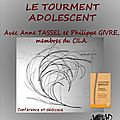 Colloque bordeaux : le tourment adolescent