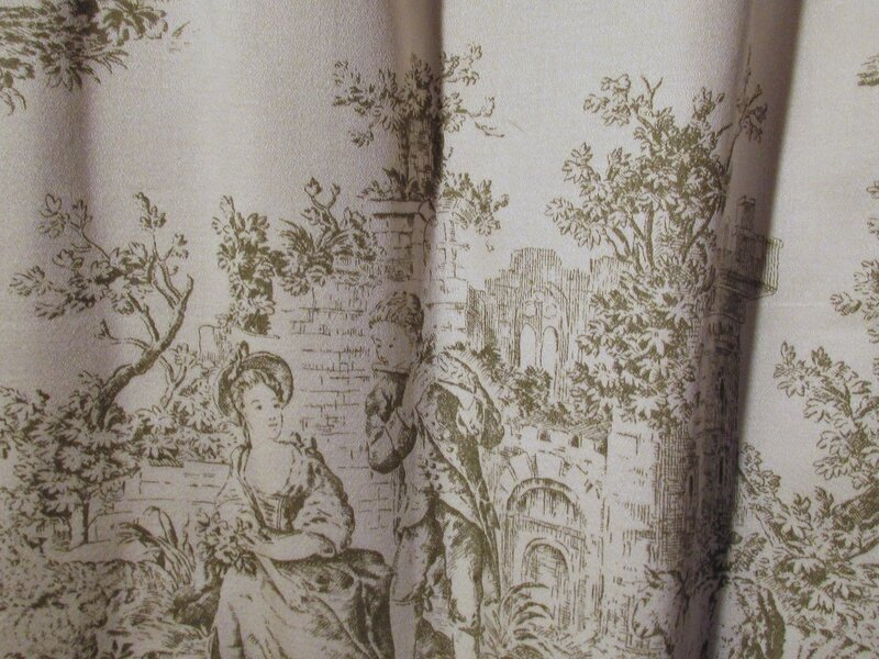 haut de rideau cantonni re toile de jouy 140x72 cm chantale poucel a montmorillon 86. Black Bedroom Furniture Sets. Home Design Ideas