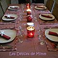 Une table de Noël tradition nordique : en rouge et blanc
