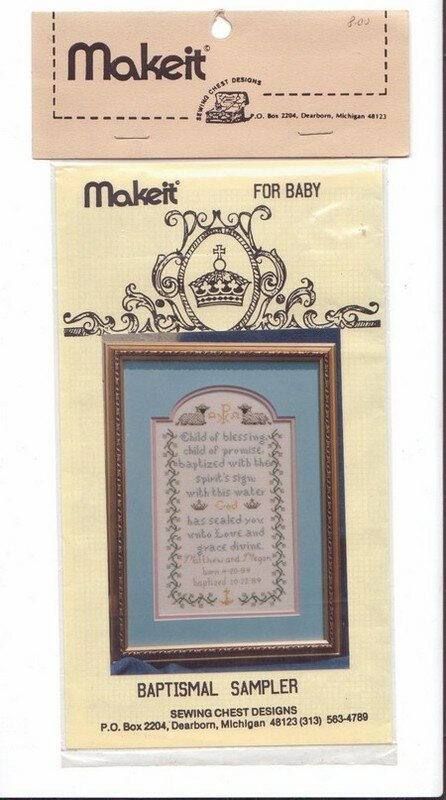 Baptismal Sampler - Make it - 5 euro