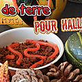 Des vers de terre bonbon pour décorer vos gateaux d'halloween ( recette)