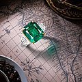 An emerald and diamond ring, by marina b