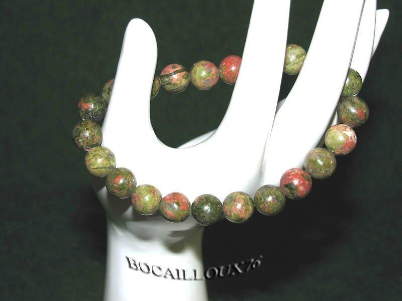 Bracelet UNAKITE 3 Perles 8mm (5)