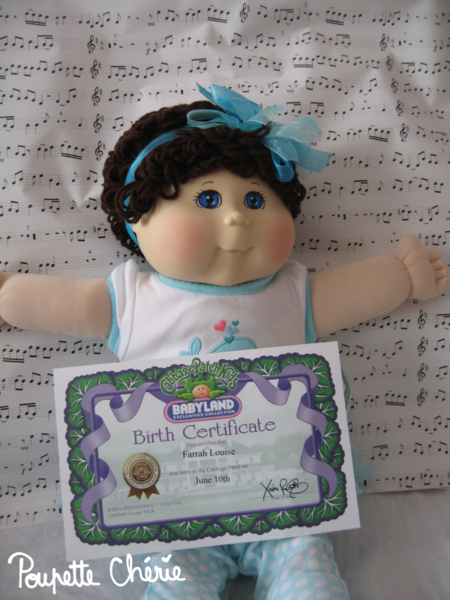 Cabbage Patch Kids Bleue 03