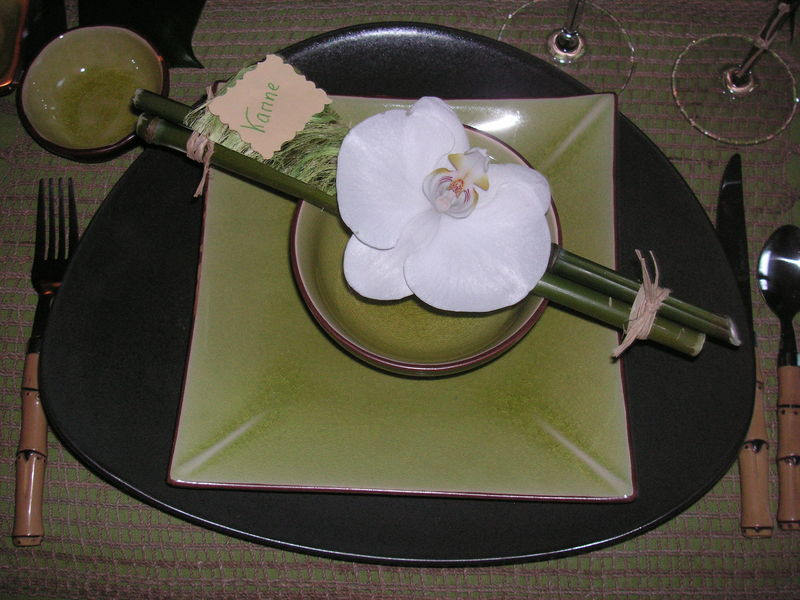 Pict0002 0001 photo de table bambou 1 a table c t d co for Decoration de table zen bambou