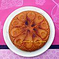 Gâteau-tatin de semoule, aux poires caramélisées à la gelée de coing