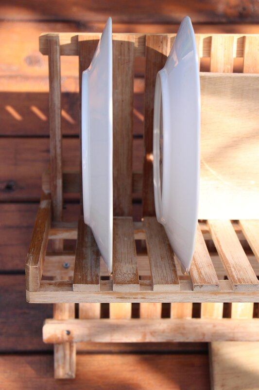 egoutoir en bois live simply. Black Bedroom Furniture Sets. Home Design Ideas