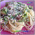 Spaghetti courgettes