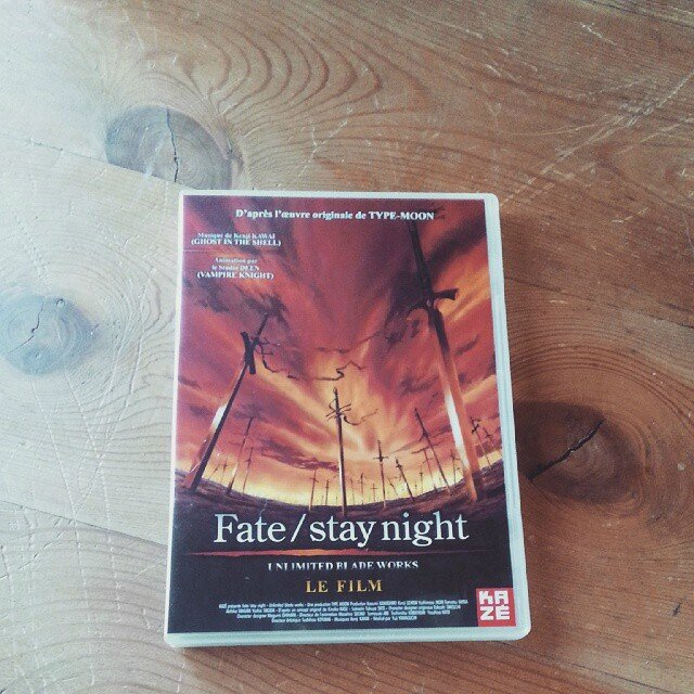 fate stay night film dvd