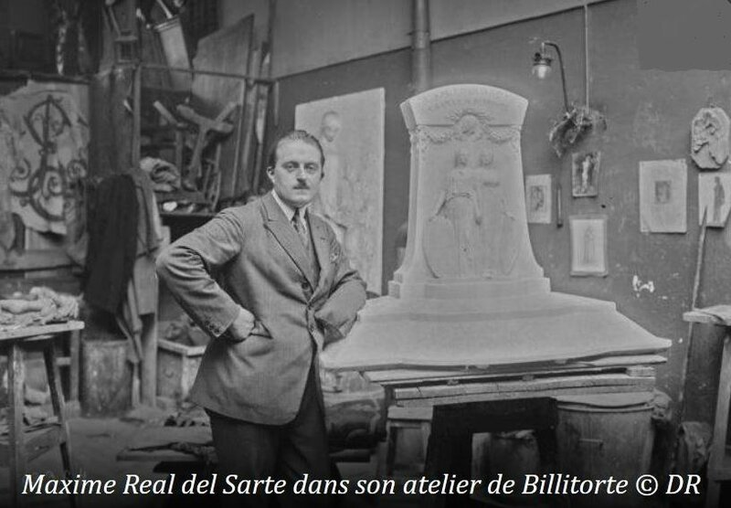 Réal del Sartre dans son atelier