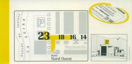 © 1990 François-Noël TISSOT Une Identité Pour Demain ® Aubergenville RENAULT Usine Pierre LEFAUCHEUX à Flins Accès des livraisons Porte Nord-Ouest