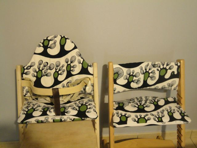 des coussins pour les chaises tripp trapp des loulous arthur couture et cr ations. Black Bedroom Furniture Sets. Home Design Ideas