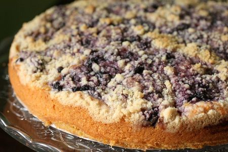 streusel cake pommes myrtille _ chez requia