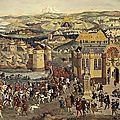 Camp du drap d'or juin 1520, rencontre entre françois ier et henri viii d'angleterre (reconstitution historique)