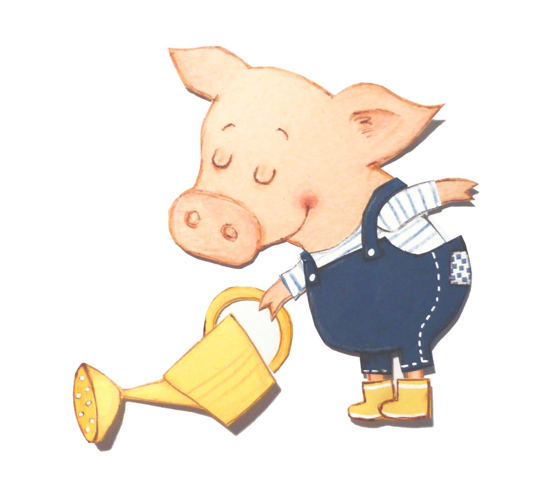 cochon jardinier