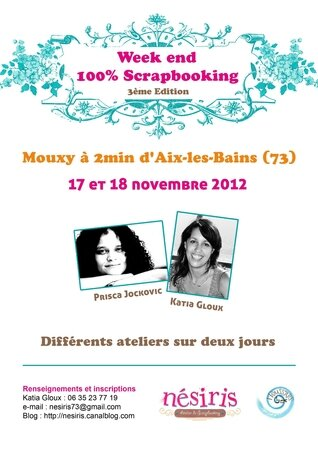 Affiche Week end 17 et 18 novembre 2012