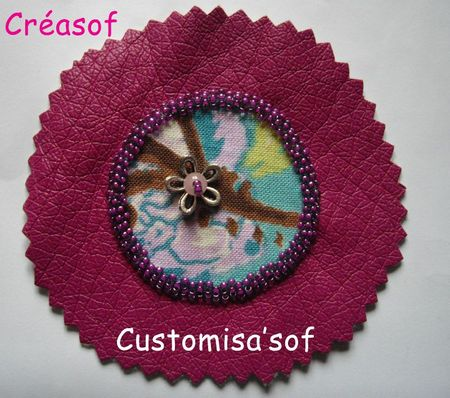 pièce à customiser fuschia et fleuri turquoise