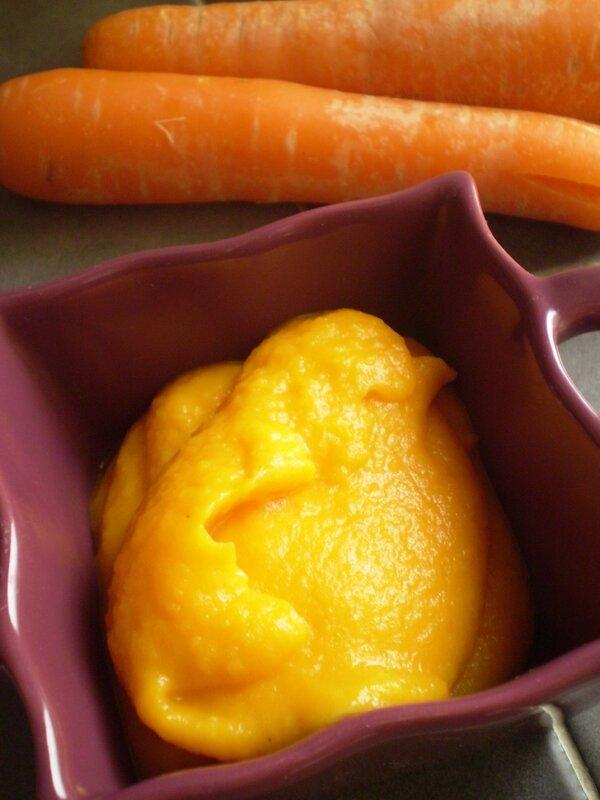 Purée de carotte à l'orange