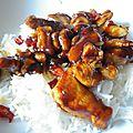 Fricassée de poulet salée-sucrée