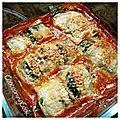 Roulés d'aubergines aux épinards et mascarpone