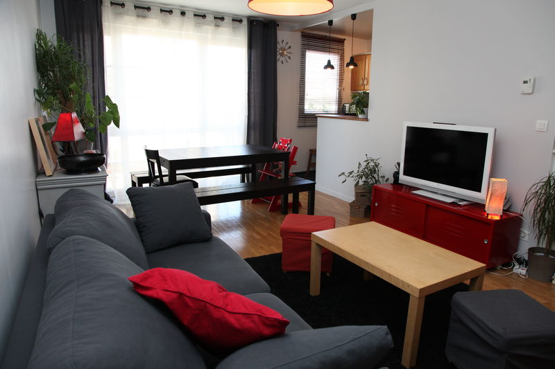 Le salon appartement f3 vendre asni res sur seine for Amenagement salon cuisine 20m2