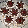 Tartelettes au caramel et pétales de céréales