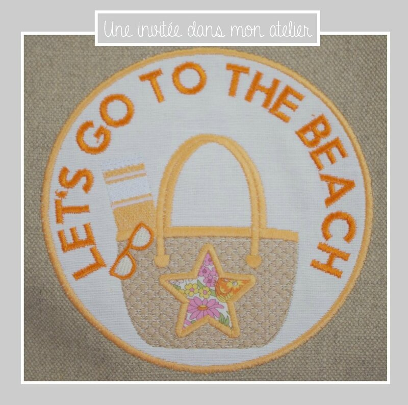 cabas en lin-let's go to the beach-Liberty