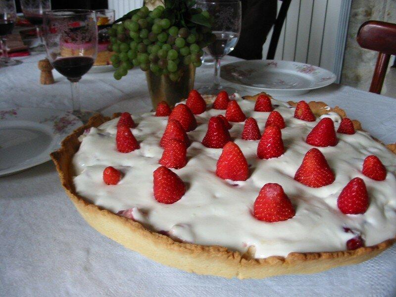 La tarte blanche aux fraises de Manou