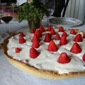La tarte blanche aux fraises de Manou