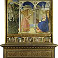 1426 ou ca 1432 FRA ANGELICO : Annonciation, retable du Couvent San Domenico de Fiesole
