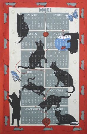 Calendrier 2014 CHAT MOIS
