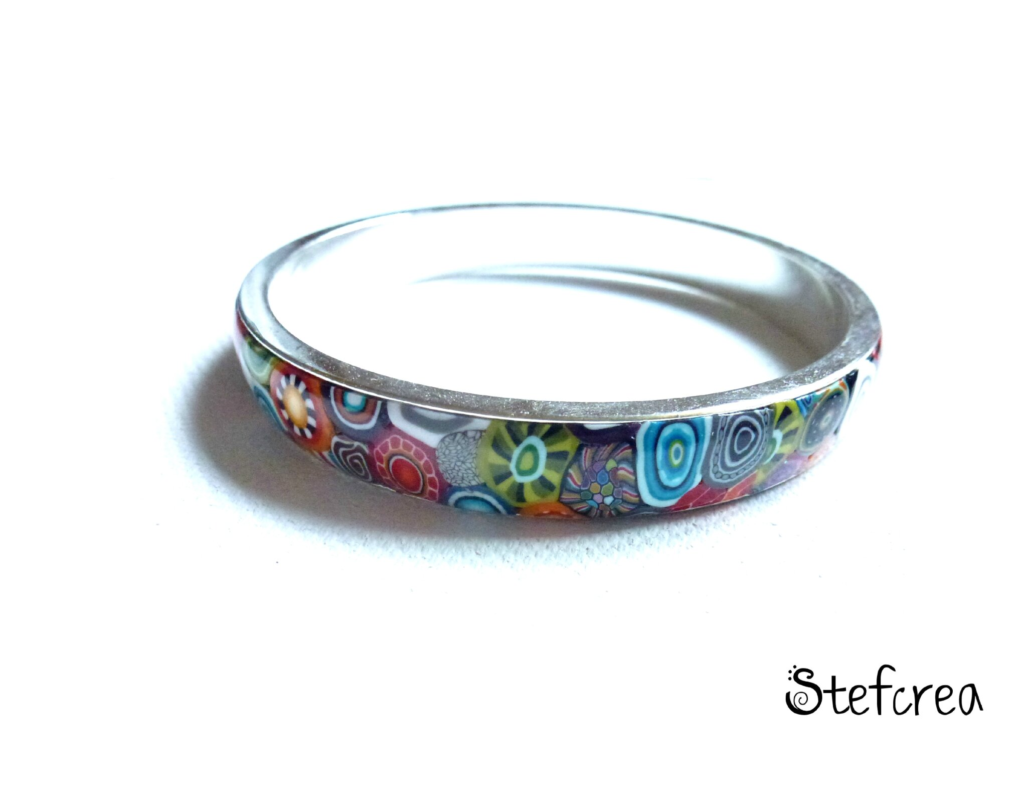 bracelet_bangle_1cm_argent_multicolore