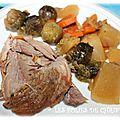 Palette de porc aux choux de bruxelles en mijoteuse