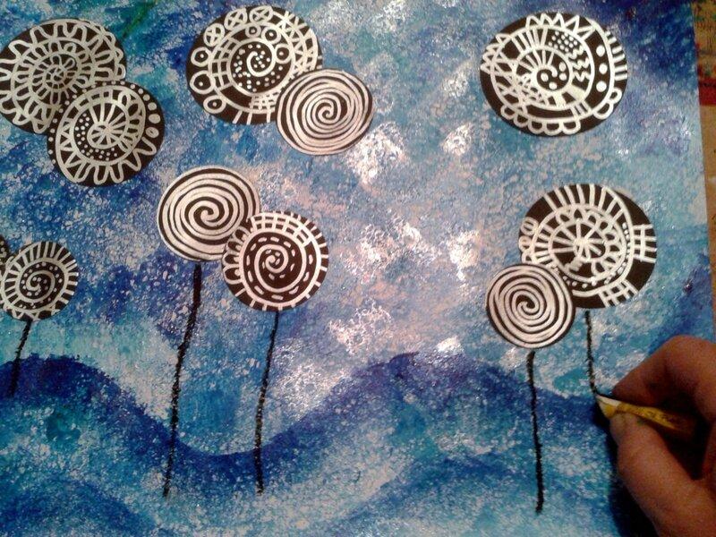 147_Arbres_ Lollipop trees à la manière de Hundertwasser (36)