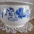 Pot de chambre, série numérotée 9334 bleu