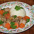 Sot-l'y-laisse de dinde aux carottes pour nouvel an chinois