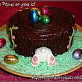 gâteau lapin de pâques en grève_avril 2012